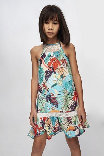 Kız Çocuk Desenli Elbise