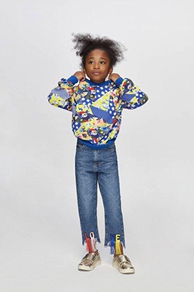 Kız Çocuk Desenli S-Shirt