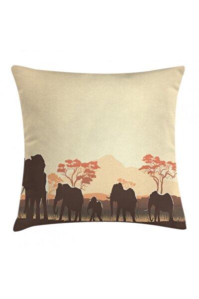 Safari Minder Kılıfı Kahverengi Fil Desenli