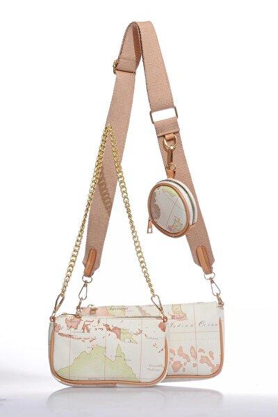 Luxury Bej Kadın Çapraz Çanta Sg2111