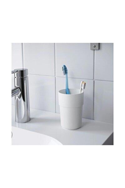 Enudden Beyaz Plastik Diş Fırçalık Banyo Bardağı