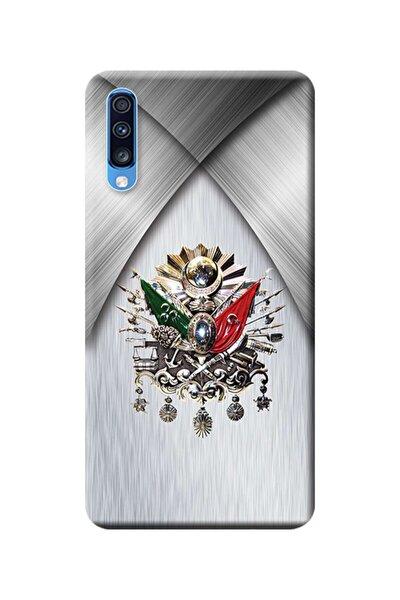 Samsung Galaxy A70 Kılıf Sm-a705f Desen Baskılı Silikon Osmanlı Tuğra Tasarım Stk:419