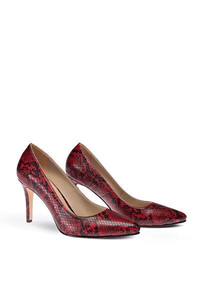 Kırmızı Piton Kadın Stiletto