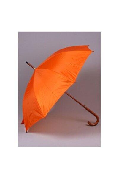 Ahşap Saplı Fiber Glass Kırılmaz Şemsiye (turuncu)