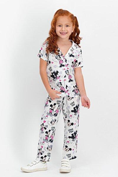 Kız Çocuk Gömlek Pijama Takımı