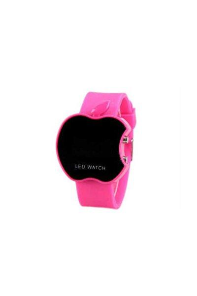 Elma Model Led Watch Kız Çocuk Saati - Pembe
