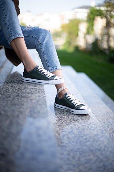Kadın  Haki Spor Ayakkabı