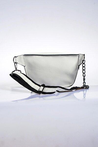 Kadın Beyaz Bel Çantası sg662-natural beyaz