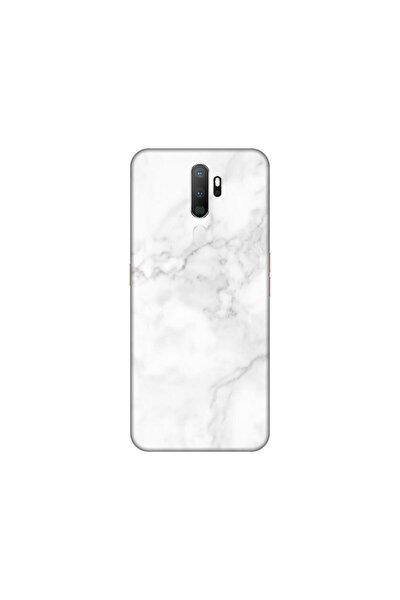 Oppo A5 2020 Beyaz Mermer Telefon Kaplaması