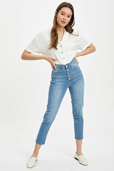Kadın Mavi Kot Slim Fit Jean Pantolon R2493AZ.20SP.NM39