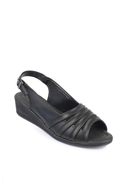 D054 Günlük  Dolgu Topuk Ortopedik Kadın Ayakkabı