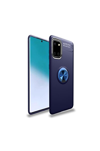 Galaxy Note 10 Lite Kılıf Yüzüklü Standlı Ve Mıknatıs Özellikli Lüx Silikon