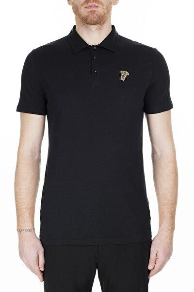 Erkek Siyah Polo Yaka T-Shirt V800708 Vj00180 V9001