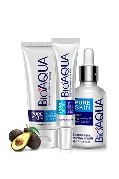 Pure Skin Akne Sivilce ve İz Karşıtı Cilt Bakım Seti 3 parça 69477907807TSK