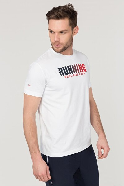Beyaz Pamuklu Erkek  T-Shirt FS-1681