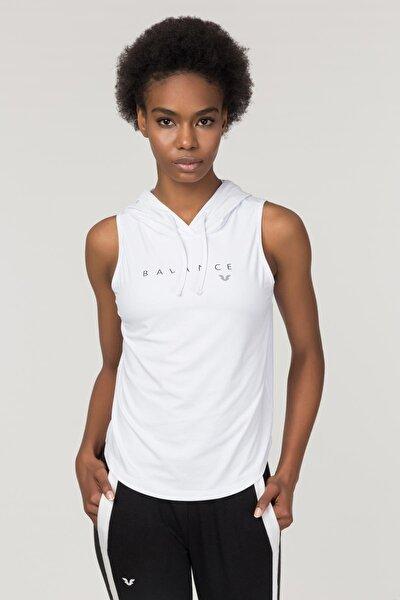 Beyaz Kadın Antrenman Atlet FS-1203