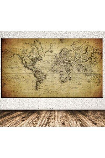 Dev Boyut Dünya Haritası Kanvas Tablo Sb-12363