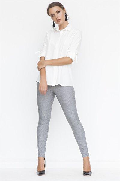 Kadın Siyah Kemeri Lastikli Slim Pantolon K18PA123
