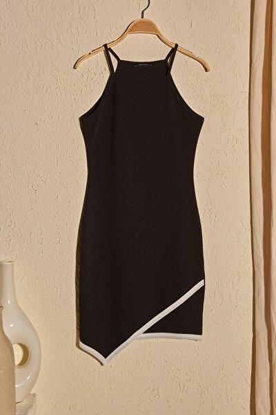 Siyah Askılı Örme Elbise TWOSS20EL3039