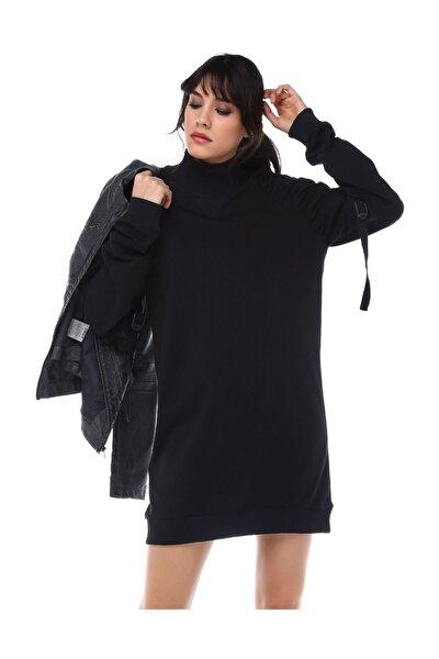 Kadın Siyah Mini Elbise