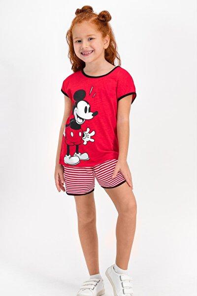 Minnie Mouse Lisanslı Kırmızı Kız Çocuk Şort Takım