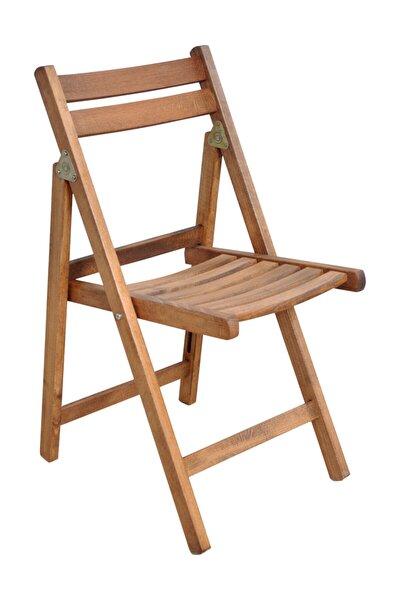 Gürgen Katlanır Ceviz Renk Dalyan Sandalye