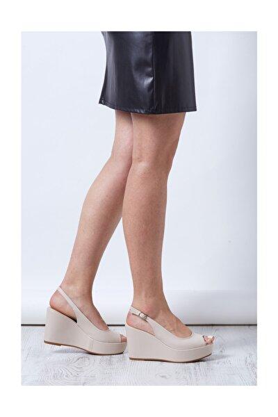 Nude Kadın Dolgu Topuklu Ayakkabı Relleno