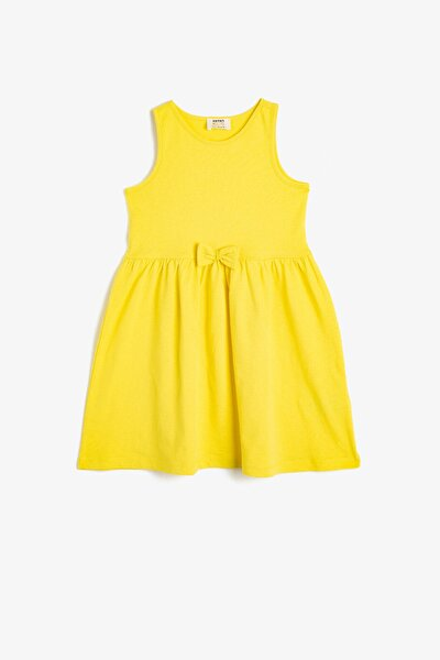 Sarı Kız Çocuk Elbise