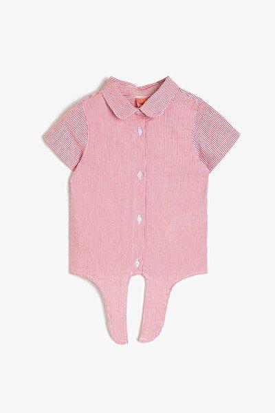 Kız Bebek Kirmizi Çizgili Gömlek 0YMG69546ZW