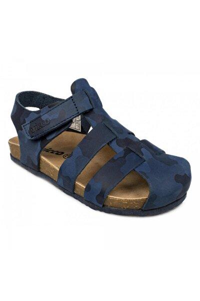 905.p20y.023 Patik Deri Mavi Çocuk Sandalet