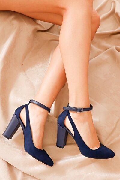 Lacivert Kadın Klasik Topuklu Ayakkabı MODAELYSA0973