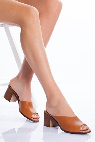 Hakiki Deri Kadın 5cm Topuklusandalet