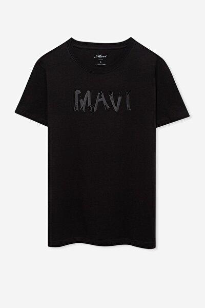 Kadın Nakışlı Siyah T-Shirt 168901-900