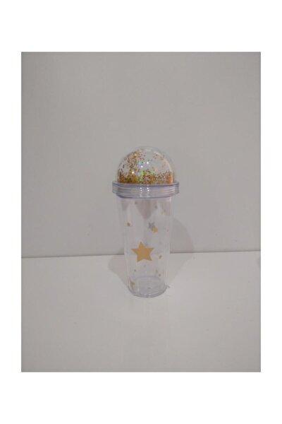 Yıldızlı Akrilik Bardak 380 Ml-milkshake Bardağı
