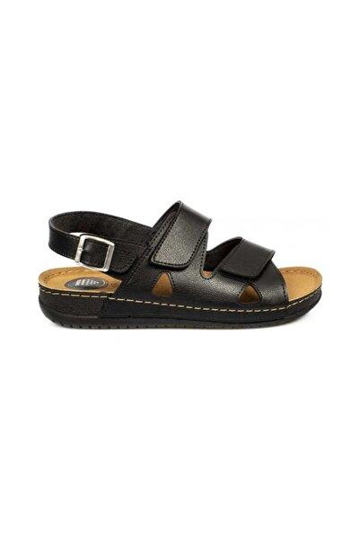 Siyah Erkek Topuk Dikeni Pedli Sandalet 98249