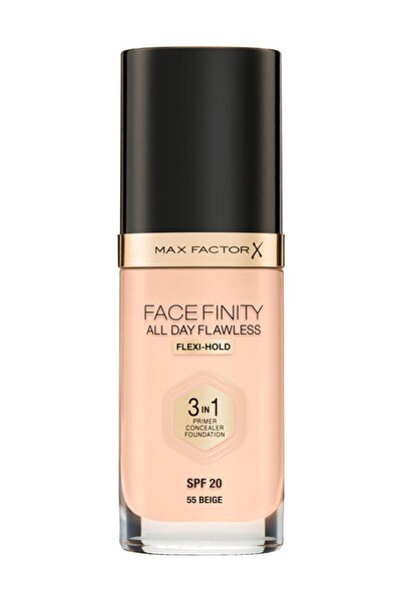 Fondöten - FaceFinity All Day Flawless Foundation 55 Beige 3614225851629