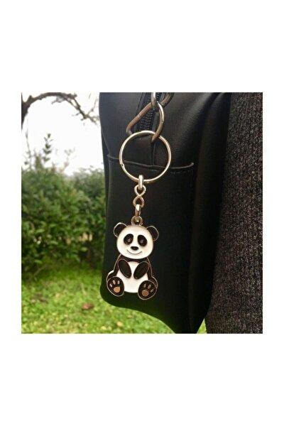 Metal Panda Anahtarlık Panda Çanta Süsü Hediyelik Anahtarlık