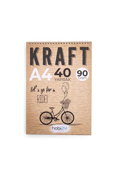 Kraft Eskiz Blok Defter - A4 - 90 gram - 40 Yaprak