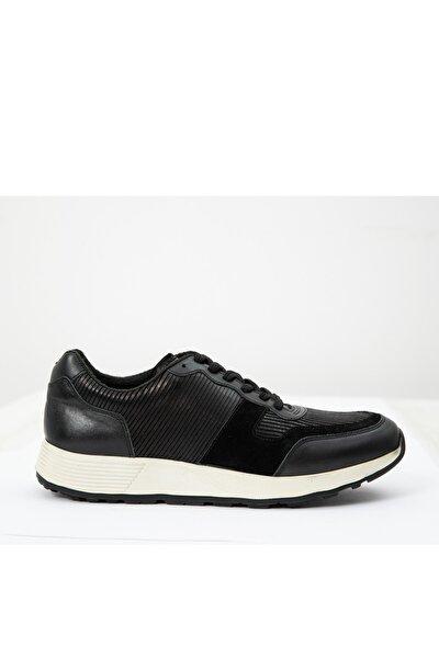 Erkek Siyah Roy Deri Spor Ayakkabı 112230150100100