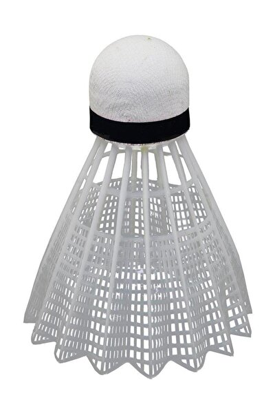 6 Adet Mantar Başlı Beyaz Badminton Topu (Özel Kutusunda)