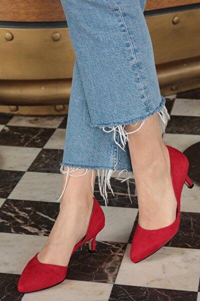 Kırmızı Kadın Topuklu Ayakkabı 009035RE