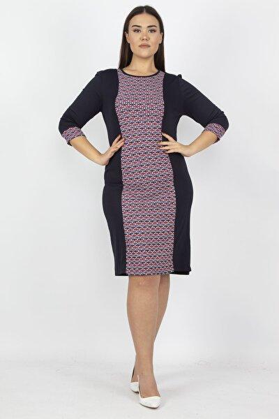 Kadın Lacivert Garni Detaylı Elbise 65N15779