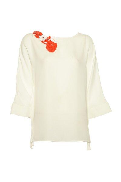 Kadın Beyaz Bluz IS1190006098