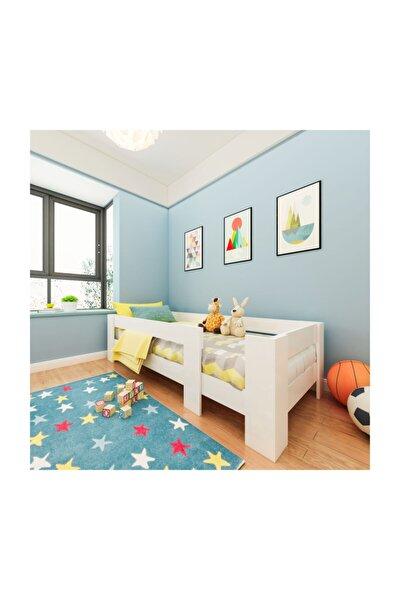 Ninnimo Yüzde Yüz Mdf Montessori Karyola Beyaz Y2 - 100x200 Yatak Uyumlu - Y 1008 Plus