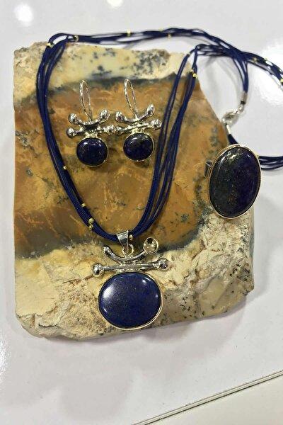 Kadın Lapis Lazuli Taşlı 925 Ayar Set