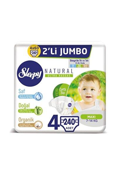 Natural Bebek Bezi 4 Beden Maxi 4x2'li Jumbo 240 Adet