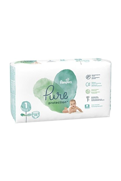 Pampers Aqua Pure Tekli Yenidoğan Bebek Bezi No1 2-5 Kg 35 Adet
