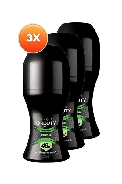 On Duty Fresh Antiperspirant Erkek Roll-On Deodorant 50ml 3'lü Paket