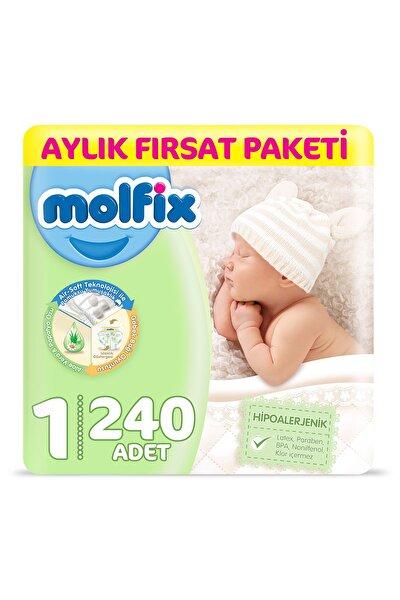 Bebek Bezi 1 Beden Yenidoğan Aylık Fırsat Paketi 240 Adet