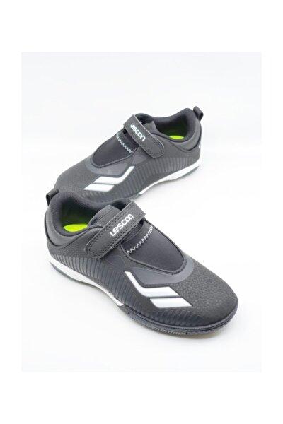 Siyah Beyaz Çocuk Halı Saha Ayakkabı